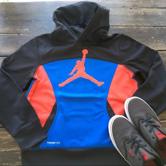 eb8bf83f70a2b7 Air Jordan Hoodie Sweatshirt Boy s 10-12 New